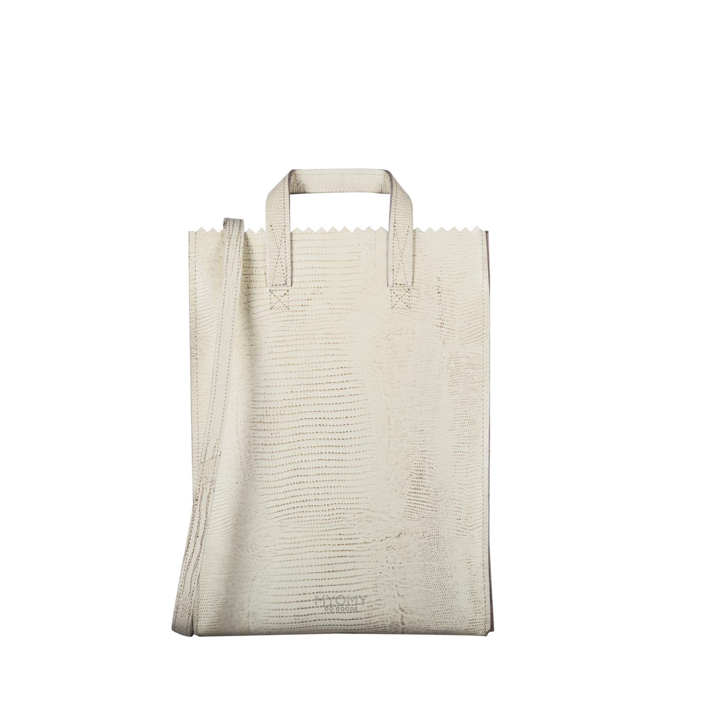 MY PAPER BAG Handy short handle - lizard desert