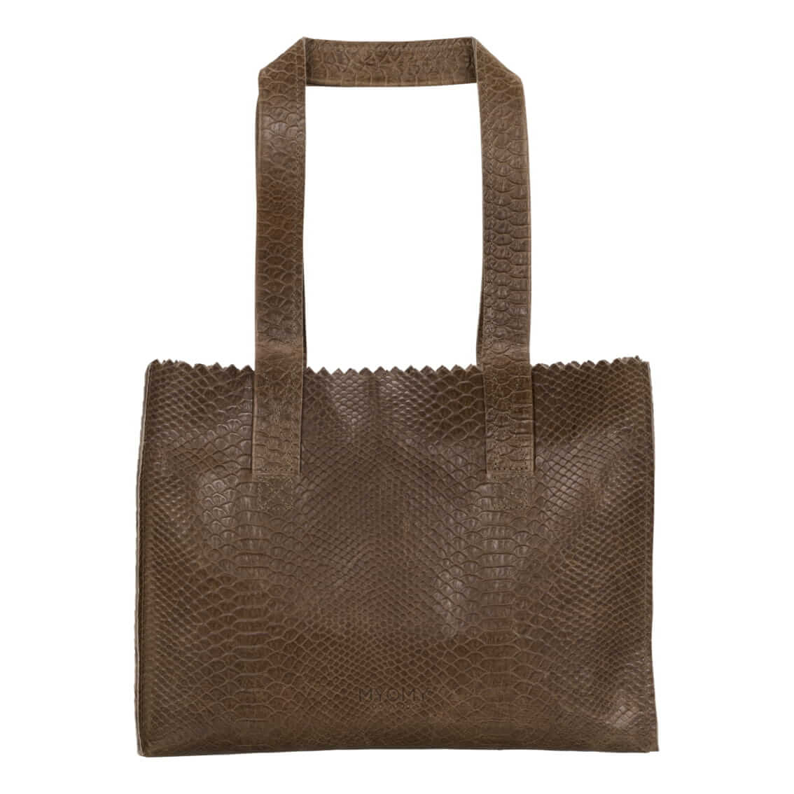 MY PAPER BAG Handbag - anaconda taupe