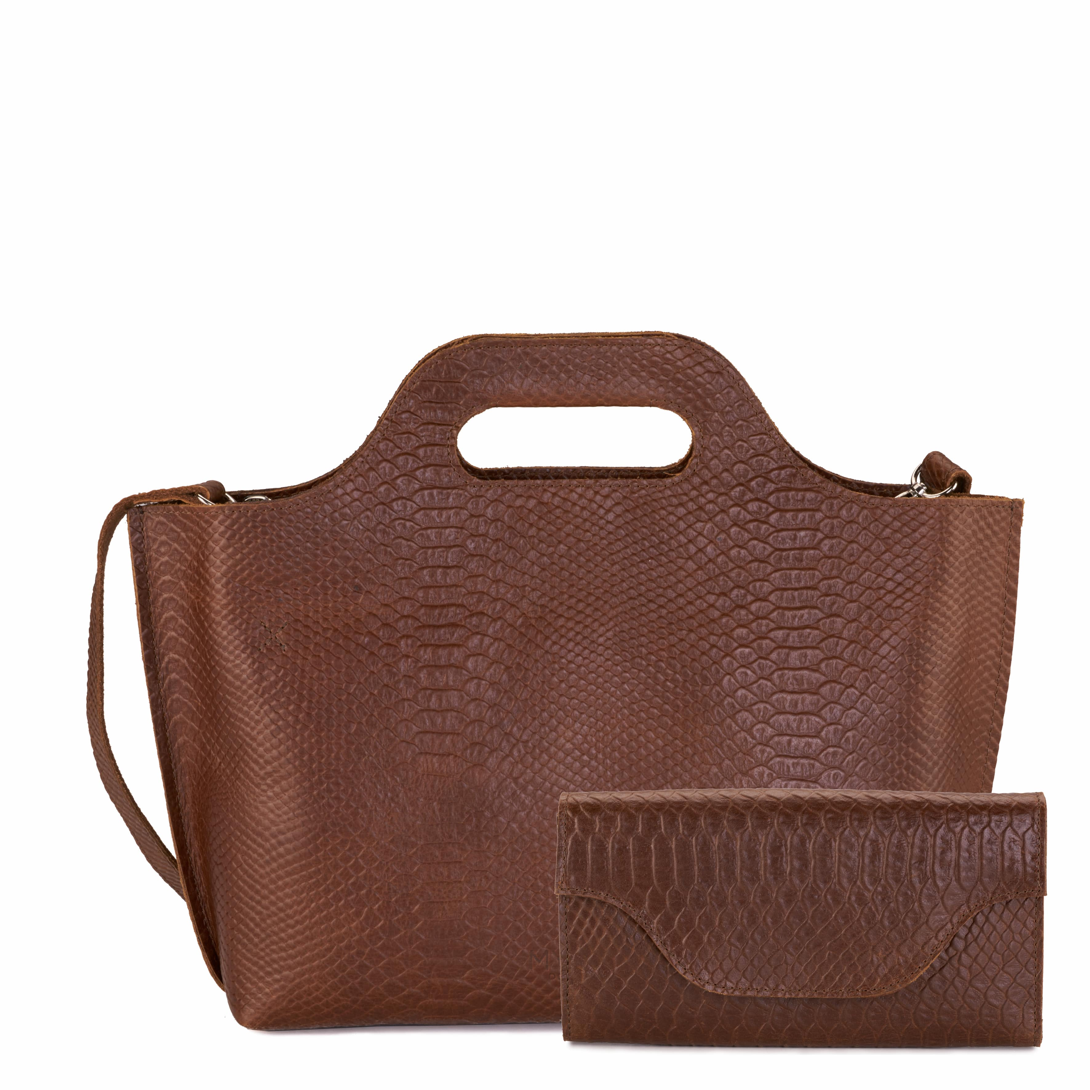 MY CARRY BAG Handbag – anaconda brandy