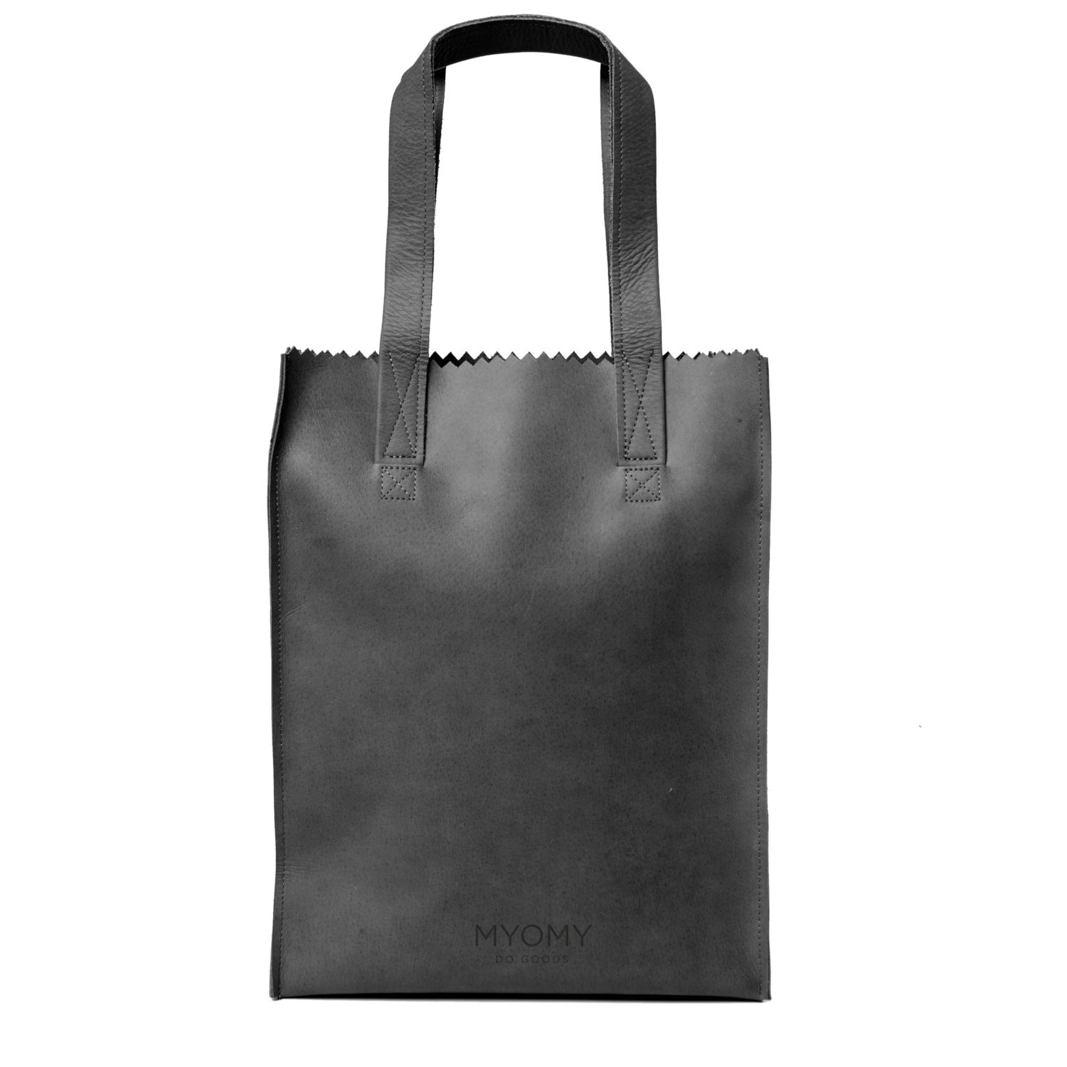 MY PAPER BAG Long handle zip – hunter off-black