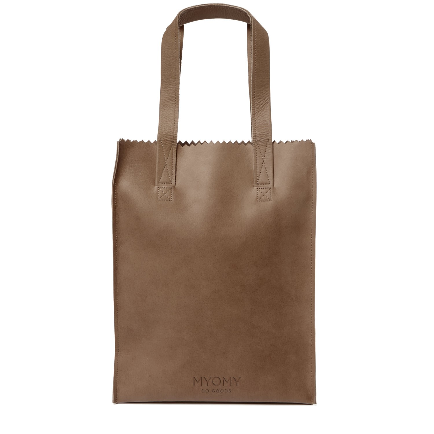 MY PAPER BAG Long handle zip – hunter original
