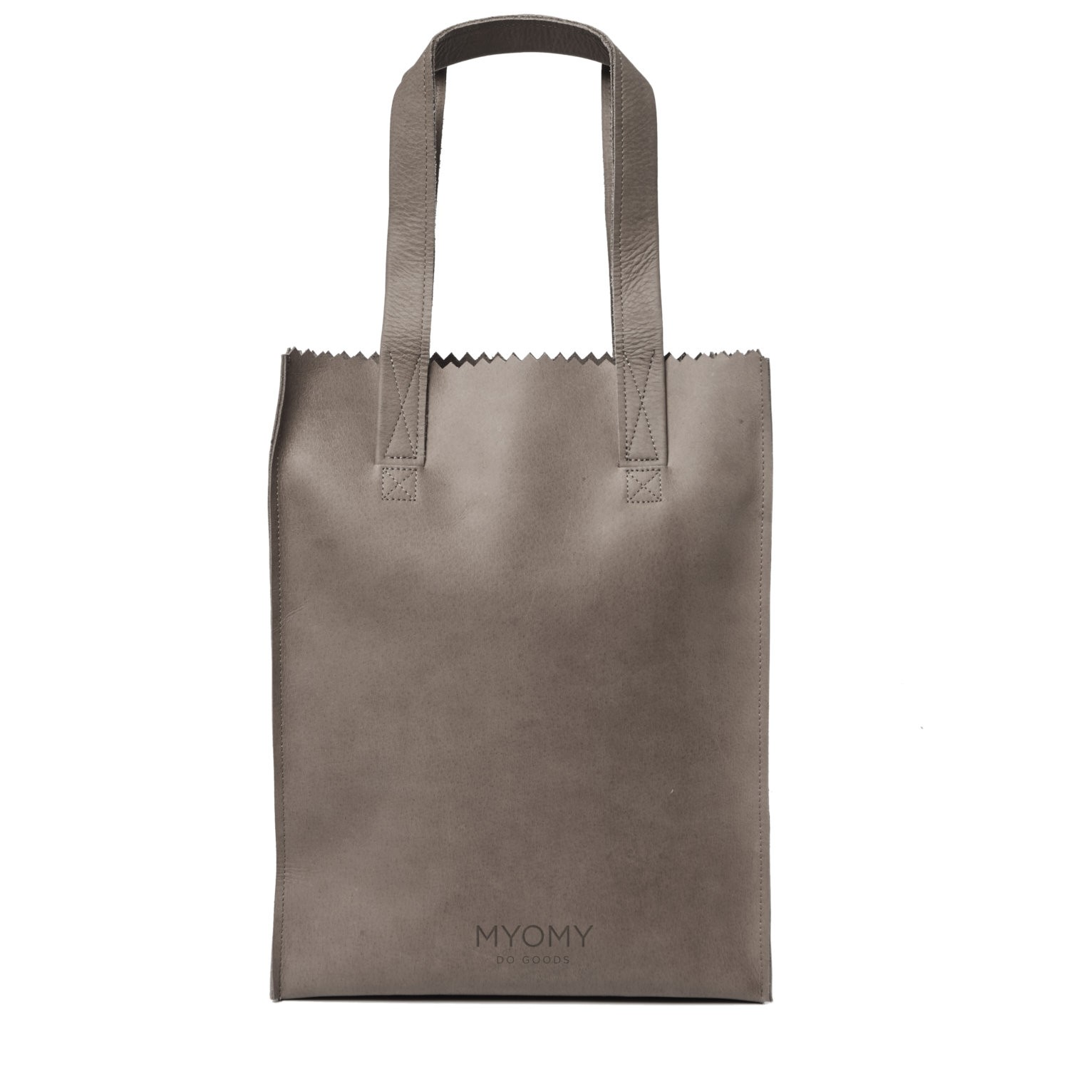 MY PAPER BAG Long handle zip – hunter taupe