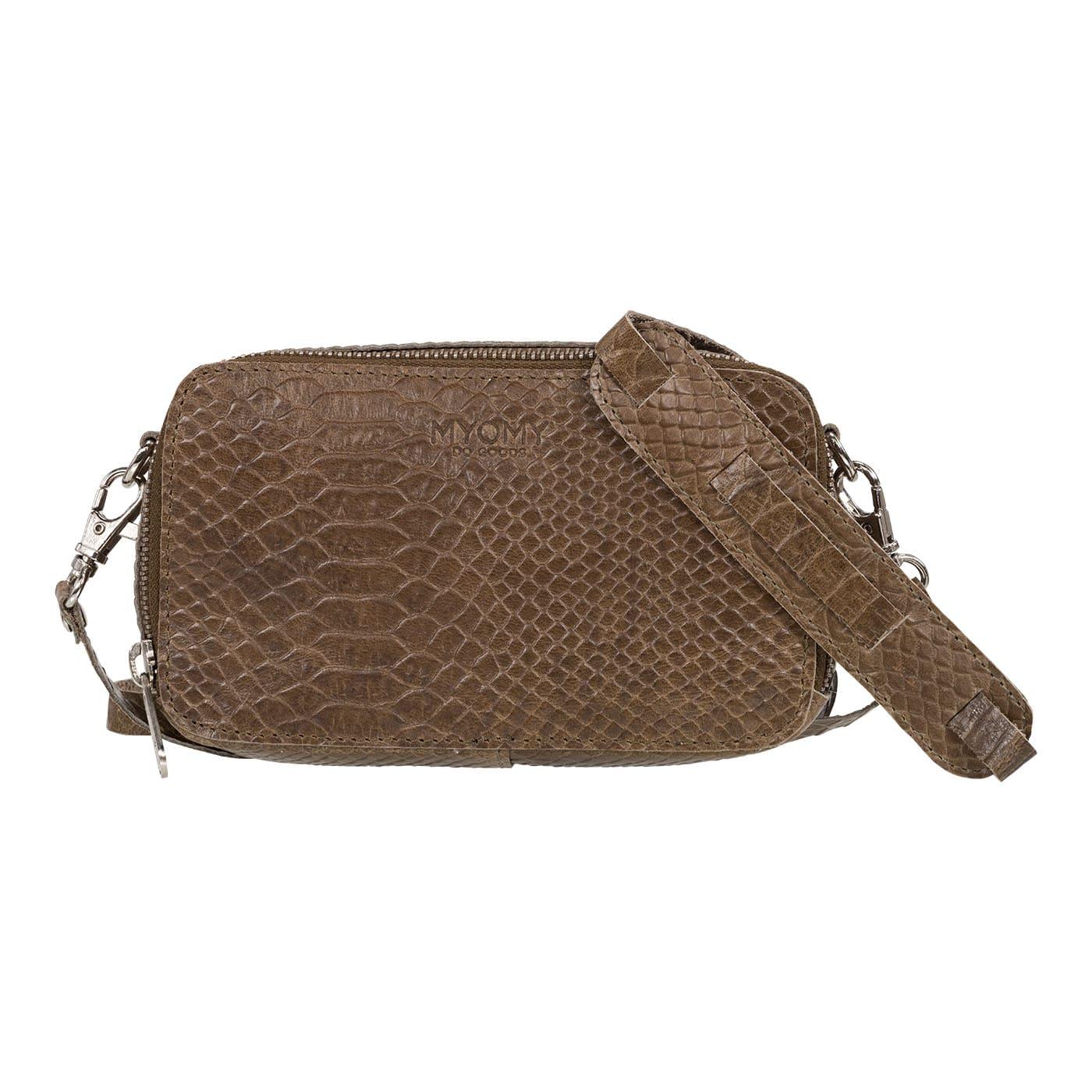 MY BLACK BAG Boxy – anaconda taupe