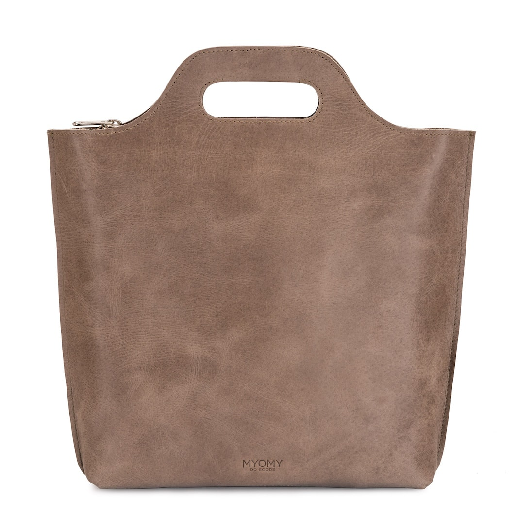 MY CARRY BAG Back bag medium – hunter waxy taupe