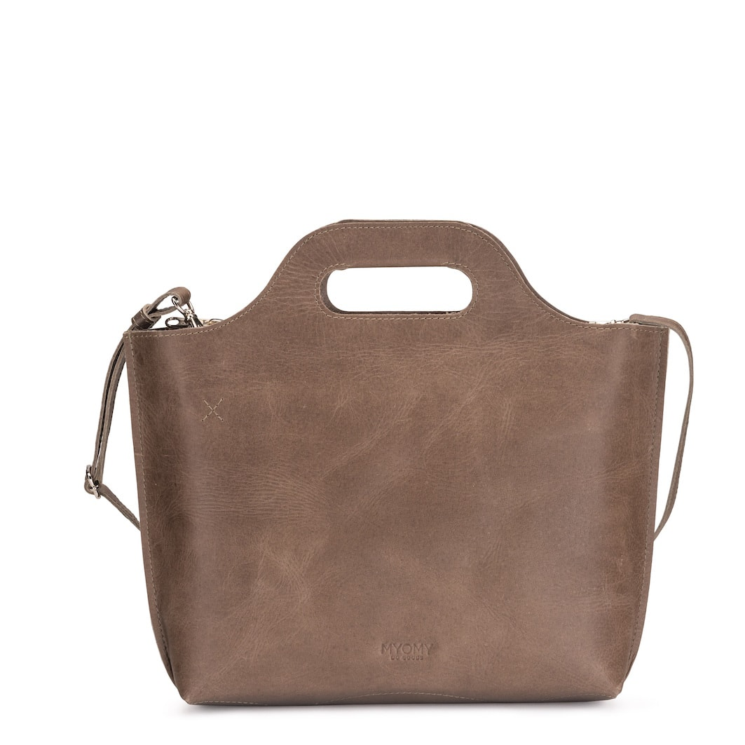 MY CARRY BAG handbag medium – hunter waxy taupe