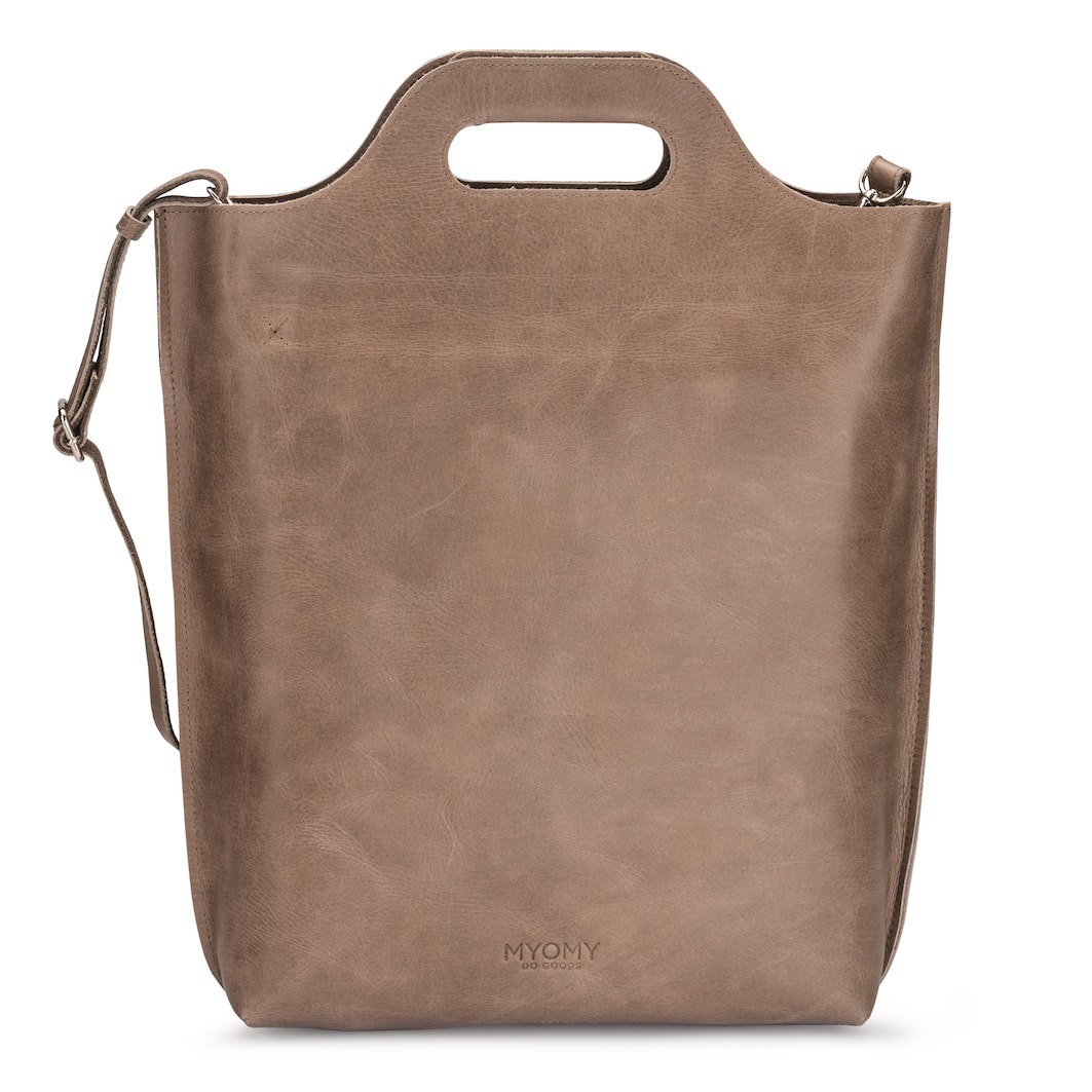 MY CARRY BAG Shopper – hunter waxy taupe