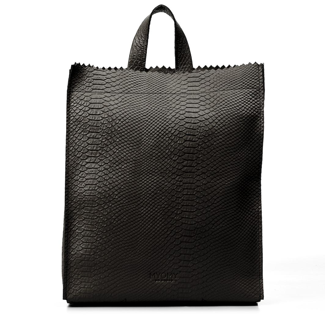 MY PAPER BAG Back bag – anaconda black