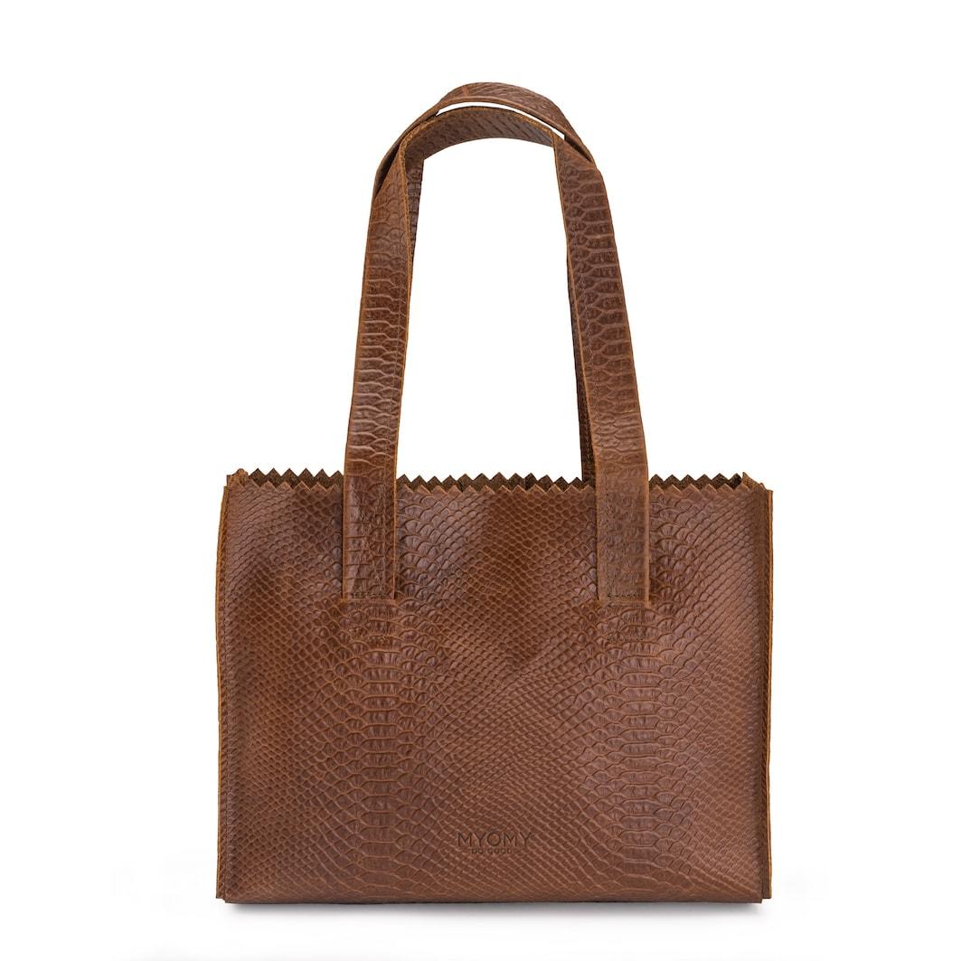MY PAPER BAG Handbag – anaconda brandy