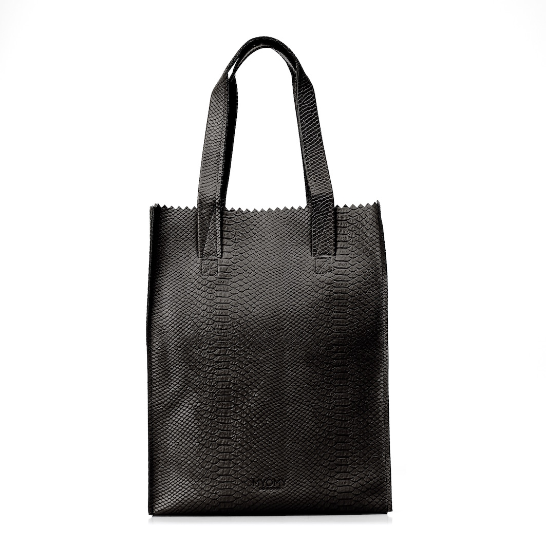 MY PAPER BAG Long handle zip – anaconda black