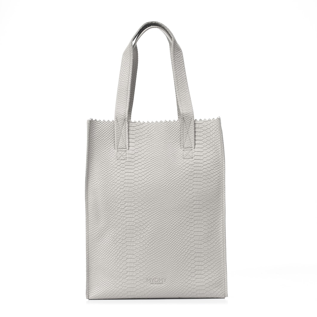 MY PAPER BAG Long handle zip – anaconda grey