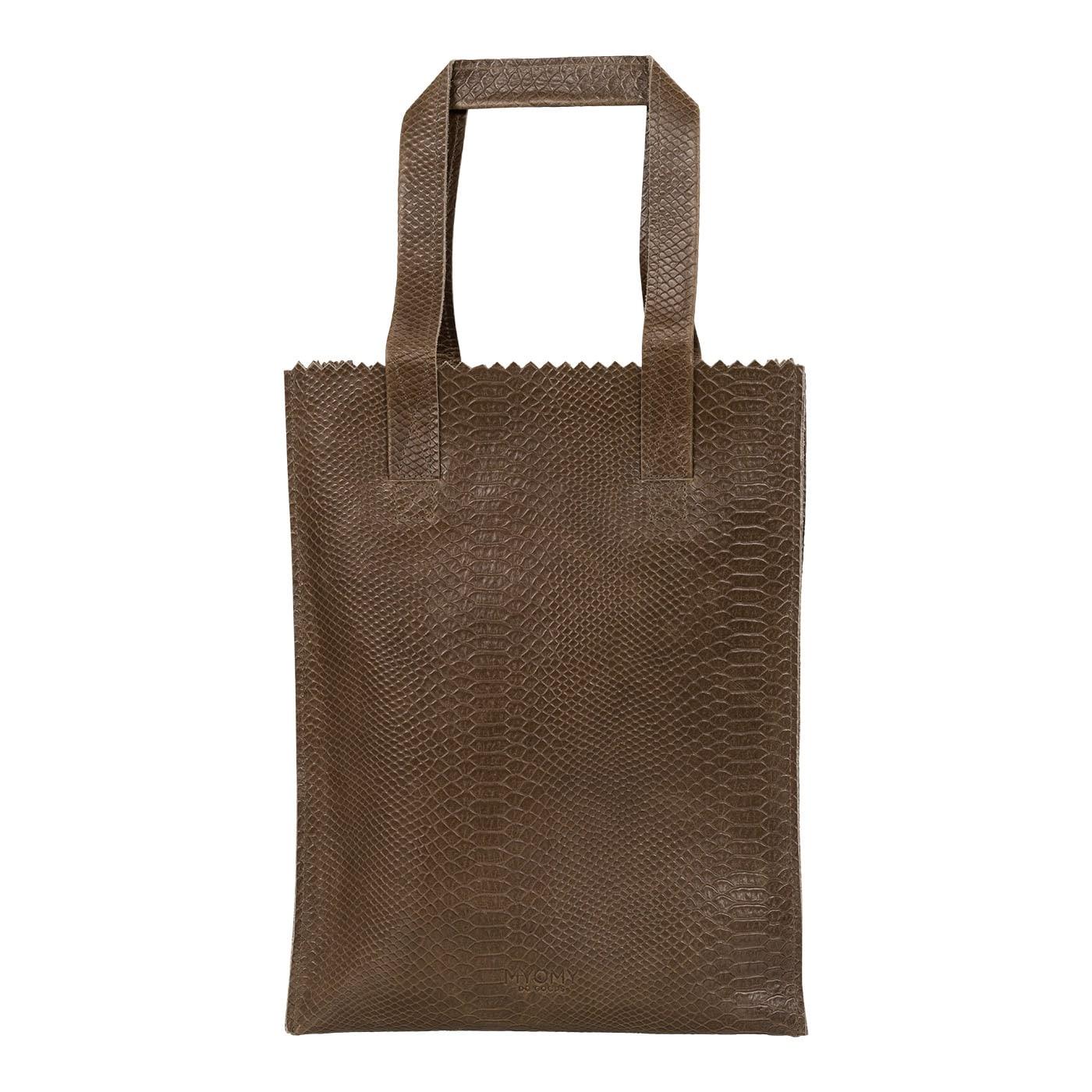 MY PAPER BAG Long handle zip - anaconda taupe