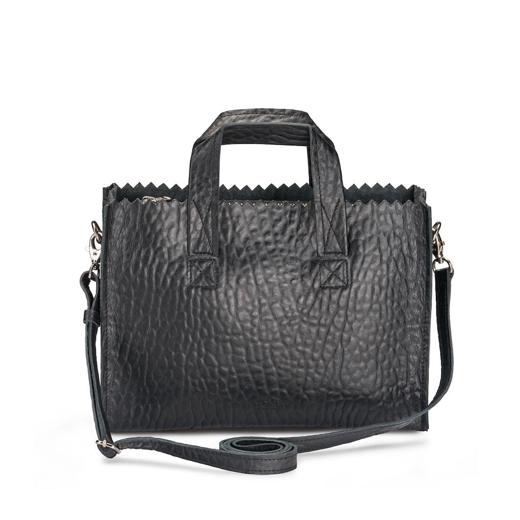 MY PAPER BAG Mini handbag cross-body – bubble black