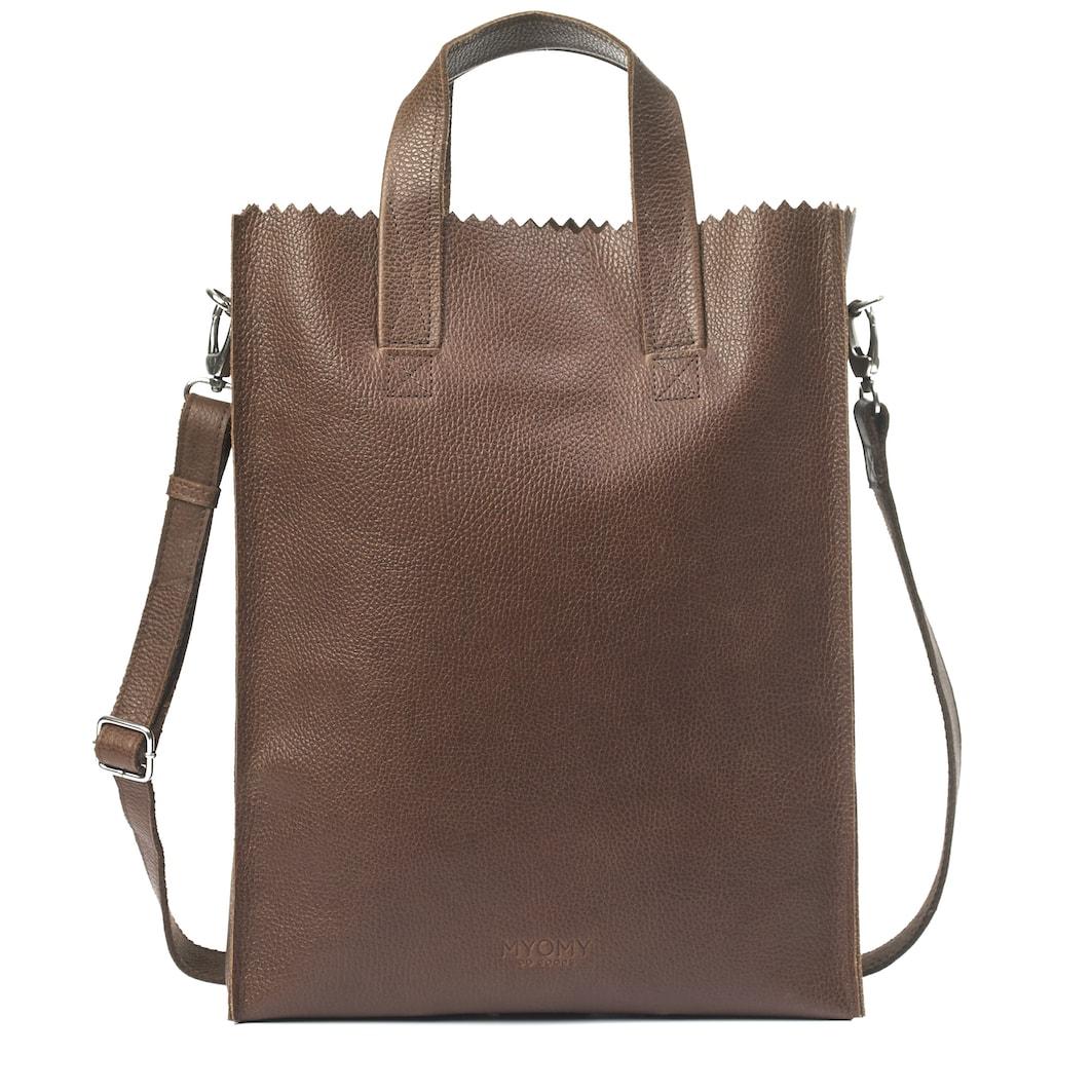 MY PAPER BAG Short handle crossbody -rambler brandy