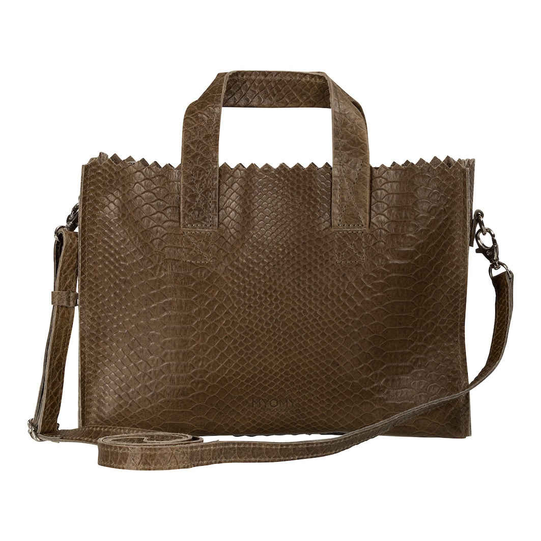 MY PAPER BAG Mini handbag cross-body  – anaconda taupe