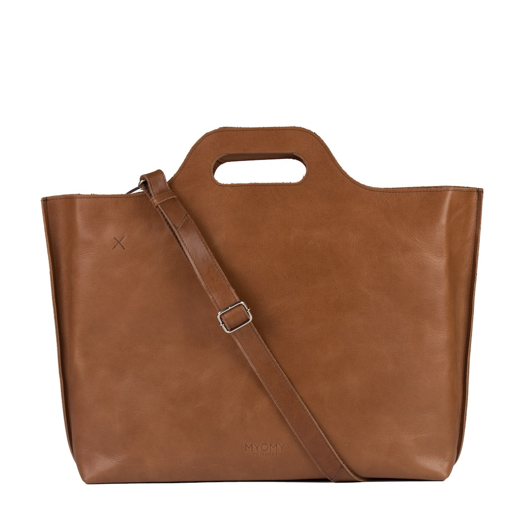 MY CARRY BAG Go bizz – hunter waxy cognac
