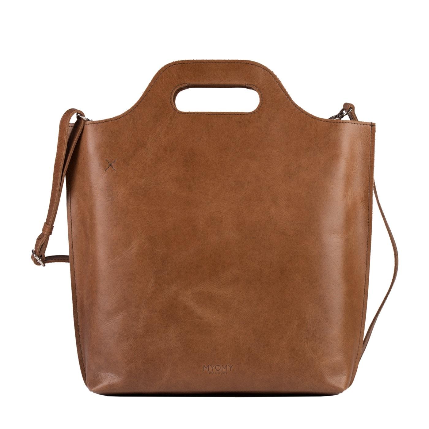 MY CARRY BAG shopper medium- hunter waxy cognac