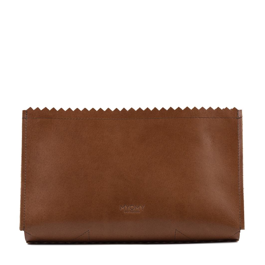 MY PAPER BAG Care bag – hunter waxy cognac