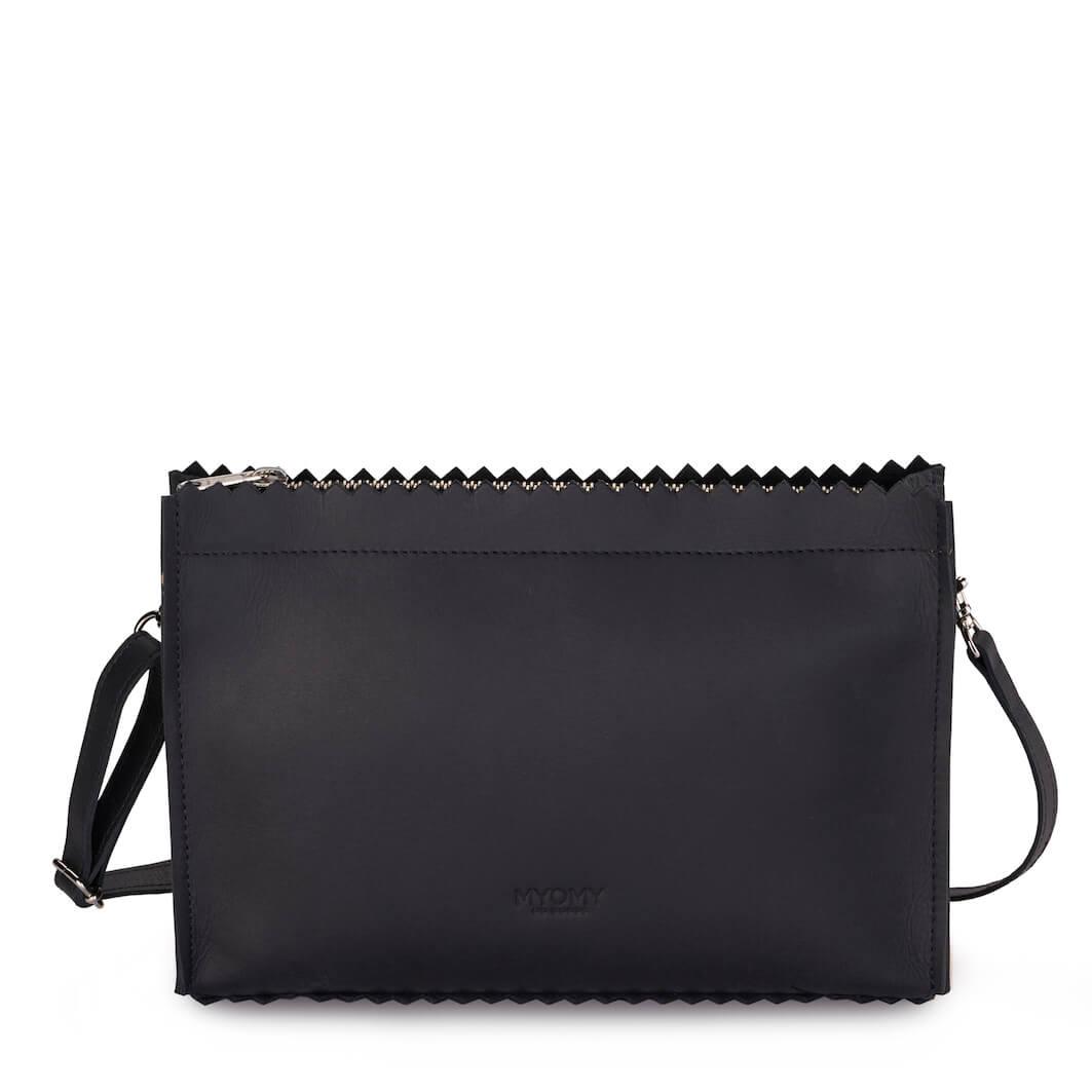 MY PAPER BAG Mini – Hunter waxy black