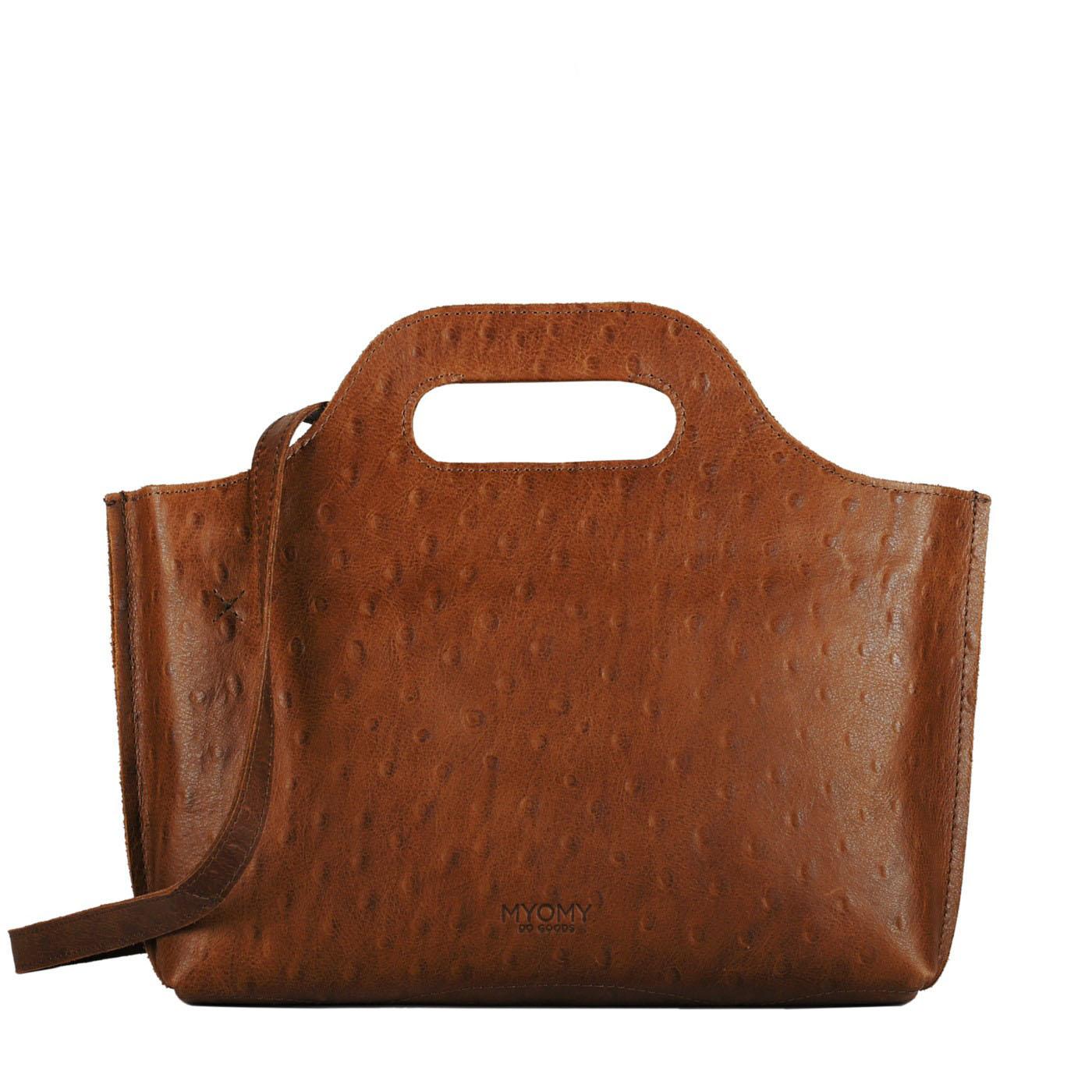 MY CARRY BAG Mini – ostrich brandy