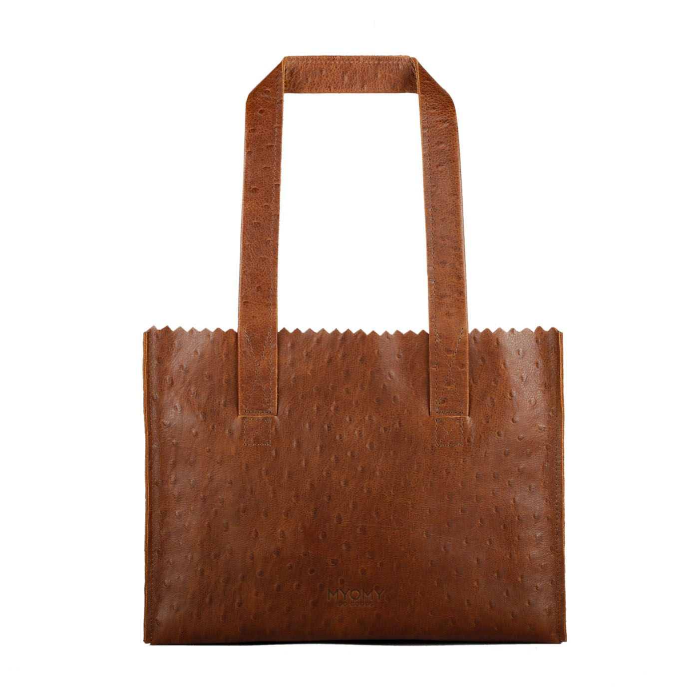 MY PAPER BAG Handbag – ostrich brandy
