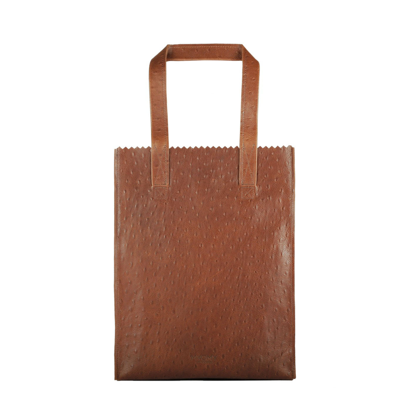 MY PAPER BAG Long handle zip – ostrich brandy