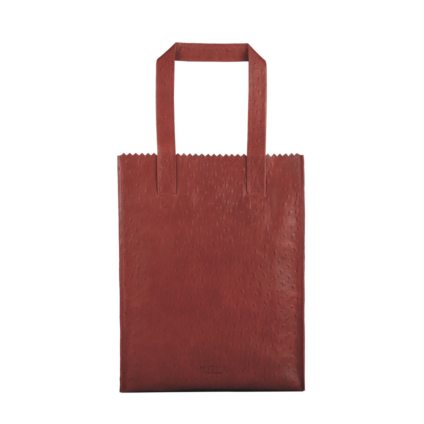 MY PAPER BAG Long handle zip – ostrich red