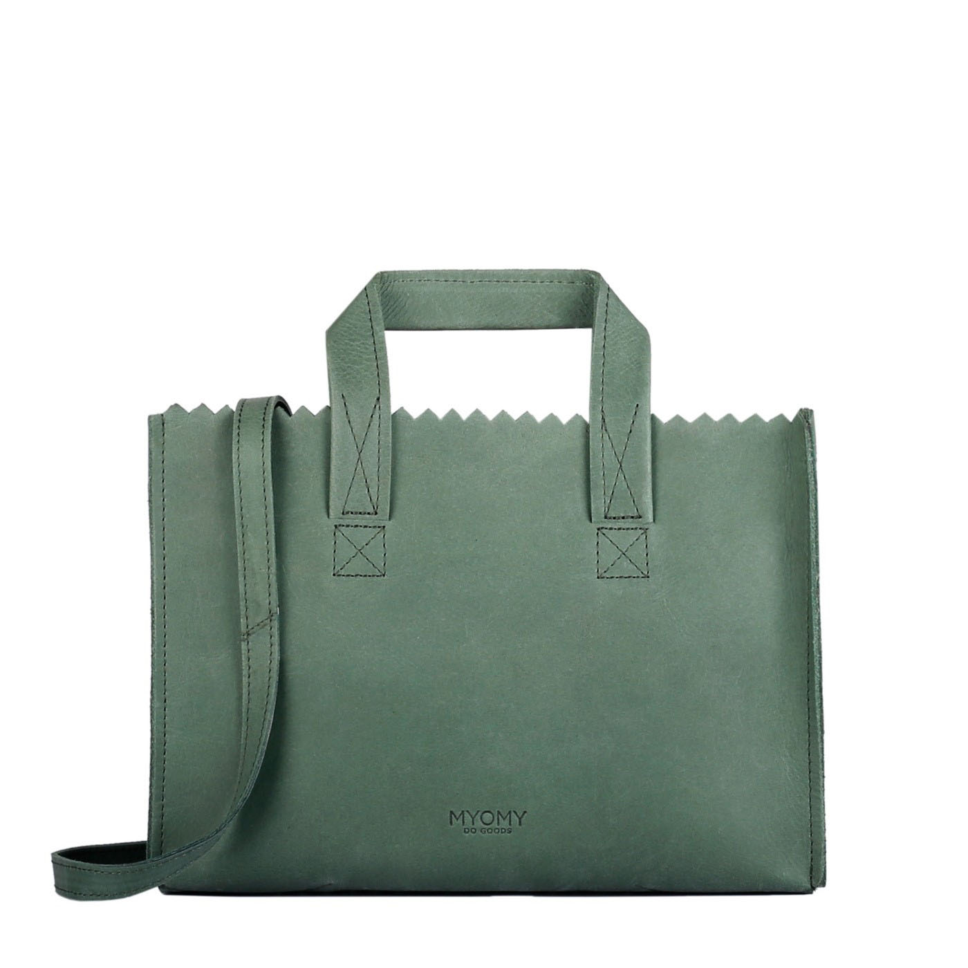MY PAPER BAG Mini handbag cross-body – hunter forest green