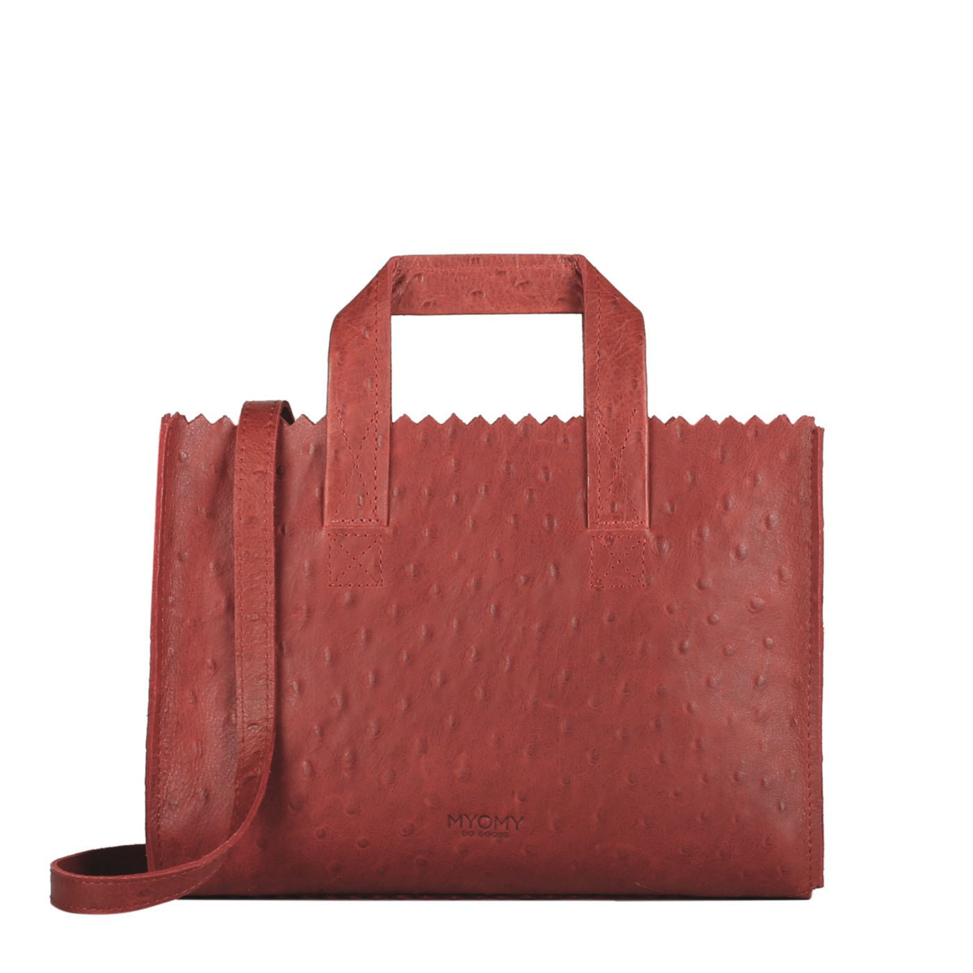 MY PAPER BAG Mini handbag cross-body – ostrich red